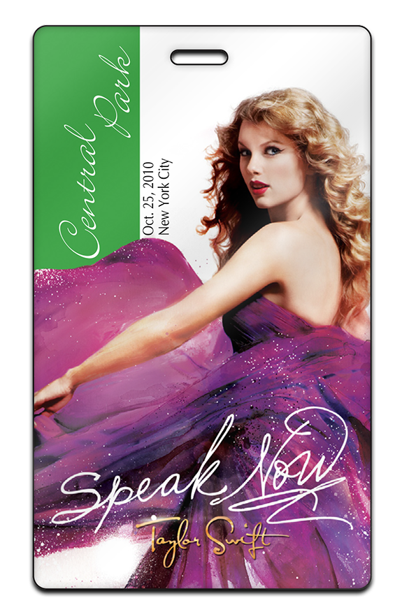 Taylor Swift Crew2 Custom Promotional Passes Conference Badges Backstage Pass Invitations Band Passes